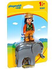 Állatgondozó elefánttal - 9381 - 1. kép