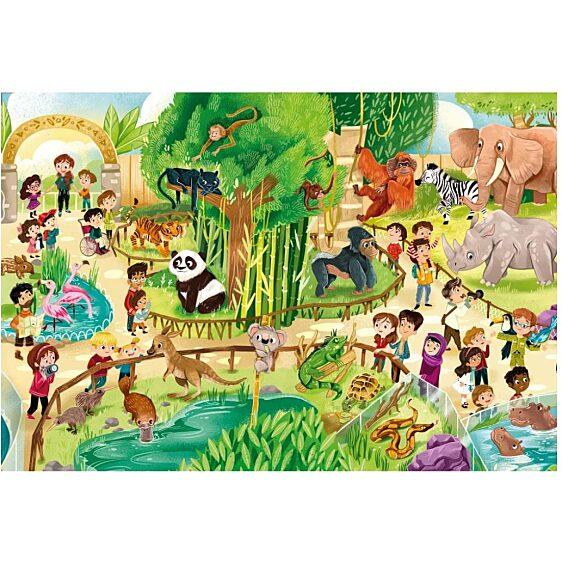 Állatkert 24 db-os maxi puzzle - Clementoni - 1. kép