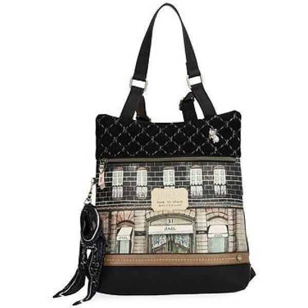 Anekke: Couture nagy álló hátitáska - fekete - 1. kép