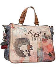 Anekke: India női táska egy füllel - rózsaszínes - 1. kép