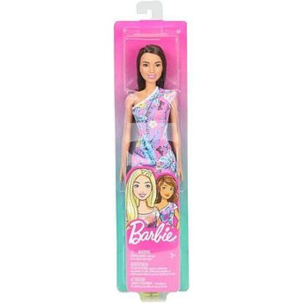 Barbie: Barna hajú baba virág mintás mini ruhában - 1. kép