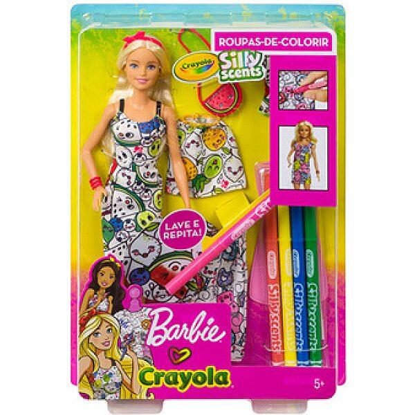Barbie Crayola: illatvarázs divattervező baba - 1. kép