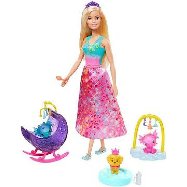 Barbie Dreamtopia: Sárkány óvoda szőke hajú hercegnővel - 1. kép