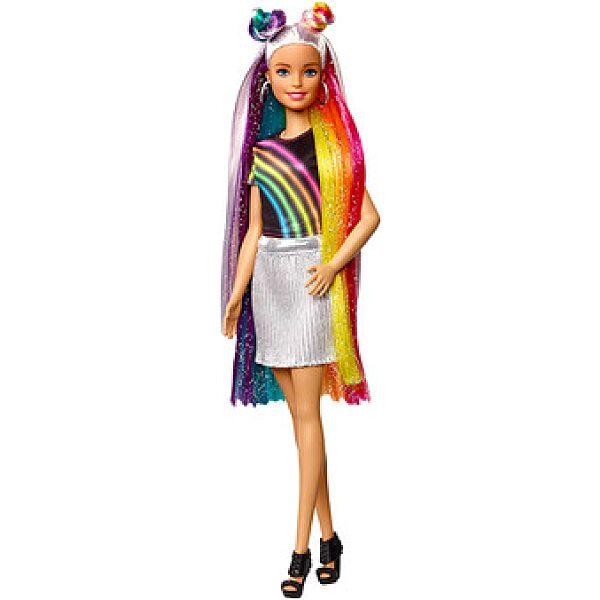 Barbie: szivárvány hajú baba - 1. kép