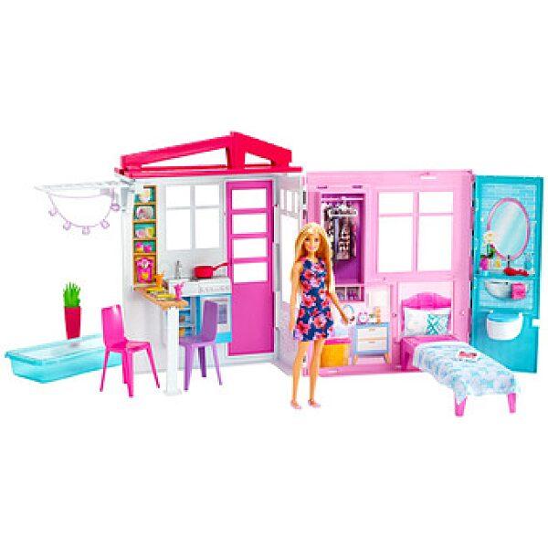 Barbie: tengerparti ház babával - 1. kép