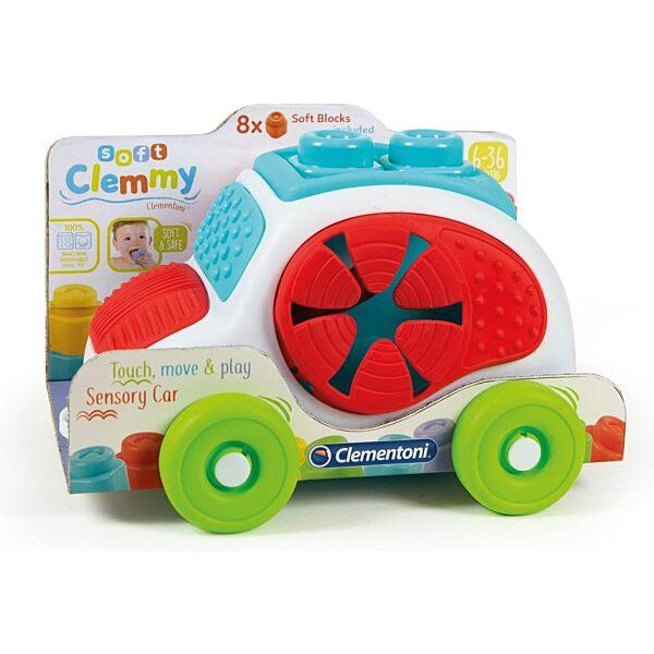 Clemmy Baby autó puha építőkockákkal - 2. kép