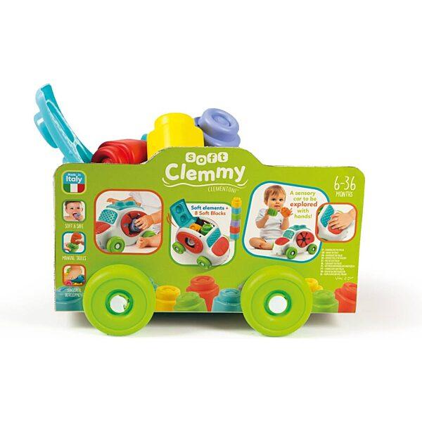 Clemmy Baby autó puha építőkockákkal - 3. kép