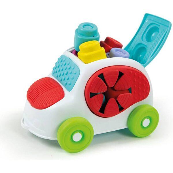 Clemmy Baby autó puha építőkockákkal - 1. kép