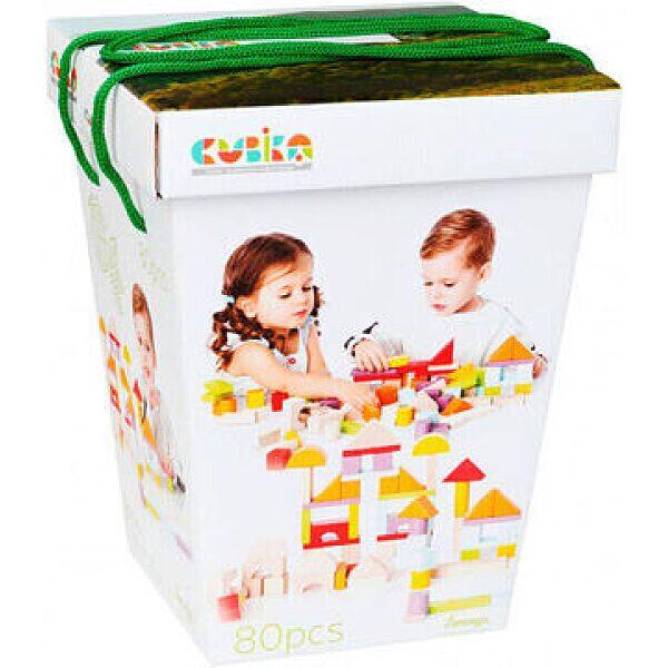 Cubika: Fa építőkocka 80 darabos szett - 1. kép