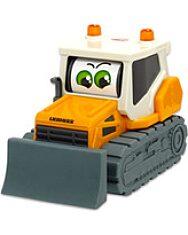 Dickie Toys: Boldog masinák - mozgó szemű Liebherr buldózer - 1. kép