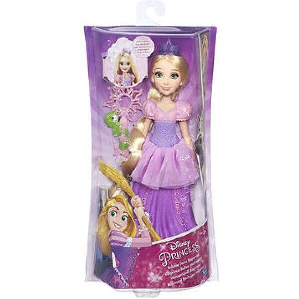 Disney Hercegnők: Aranyhaj baba buborékfújó tiarával - 1. kép