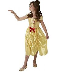 Disney hercegnők: Belle jelmez piros masnival - 128 cm - 1. kép