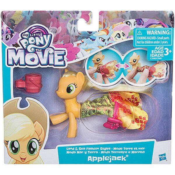 Én kicsi pónim: A film - Applejack figura sellő ruhában - 1. kép