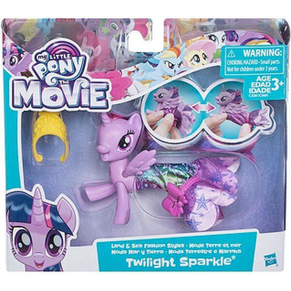 Én kicsi pónim: A film - Twilight Sparkle figura sellő ruhában - 1. kép