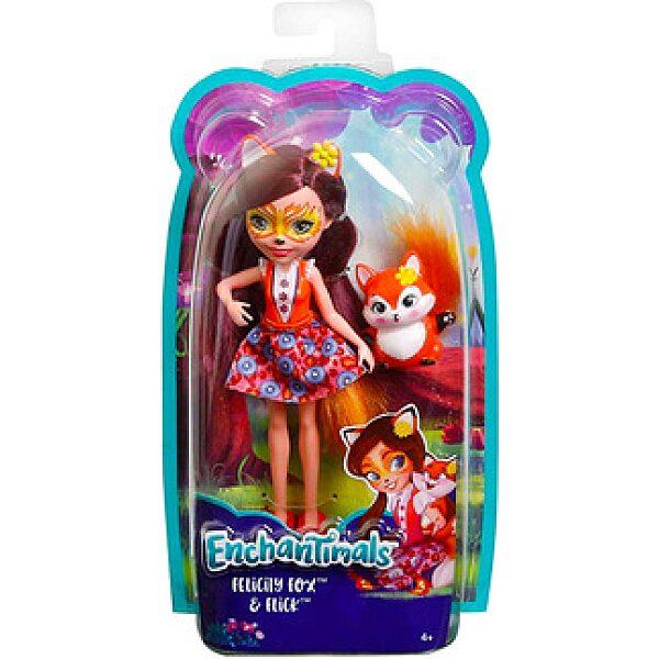 Enchantimals: Felicity Fox figura kék felsőben - 1. kép