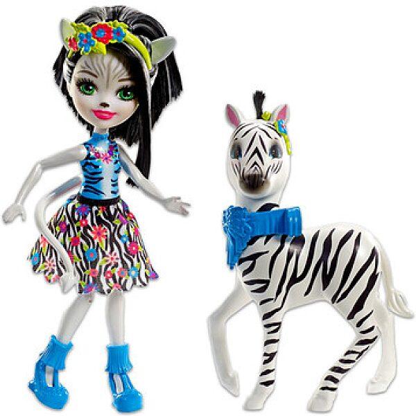 Enchantimals: Zelena zebra és Hoofette figura - 1. kép