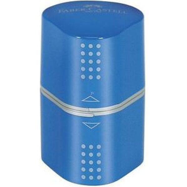 Faber-Castell Grip 2001 Trio kinyitható ceruzahegyező - kék - 1. kép