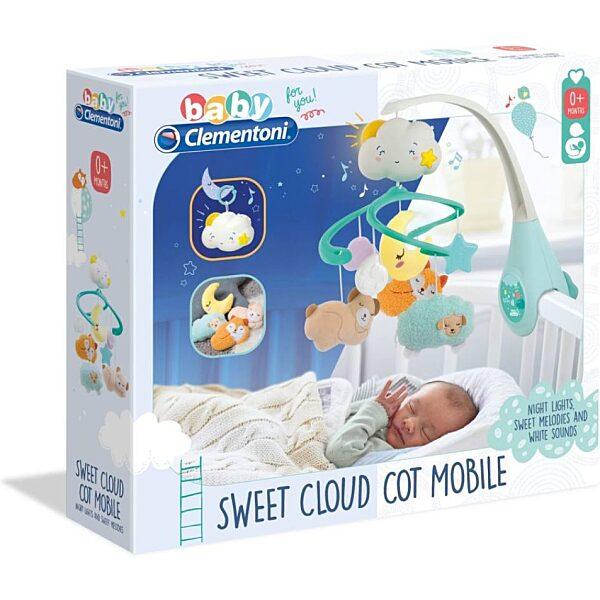 Felhő kiságyforgó fénnyel és hanggal - Clementoni Baby - 2. kép