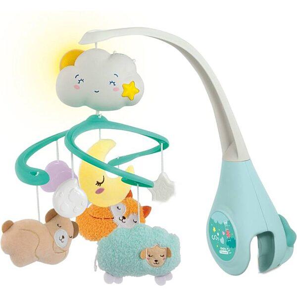 Felhő kiságyforgó fénnyel és hanggal - Clementoni Baby - 1. kép