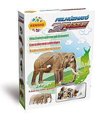 Felhúzható 3D puzzle - elefánt - 1. kép