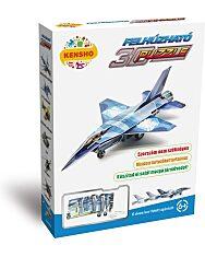 Felhúzható 3D puzzle - F-16 vadászgép - 1. kép