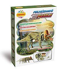 Felhúzható 3D puzzle - Triceratops - 1. kép