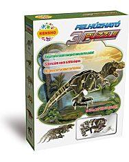 Felhúzható 3D puzzle - Tyrannosaurus Rex - 1. kép