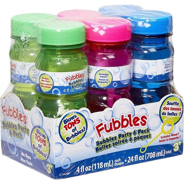 Fubbles Party buborékfújó készlet 6x118 ml - 1. kép