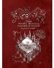 Harry Potter: Tekergők térképe négyzetrácsos füzet - A4