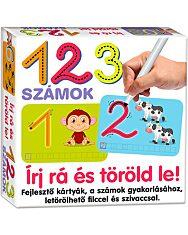 Írj rá és töröld le: 123 - számok fejlesztő kártyák - 1. kép