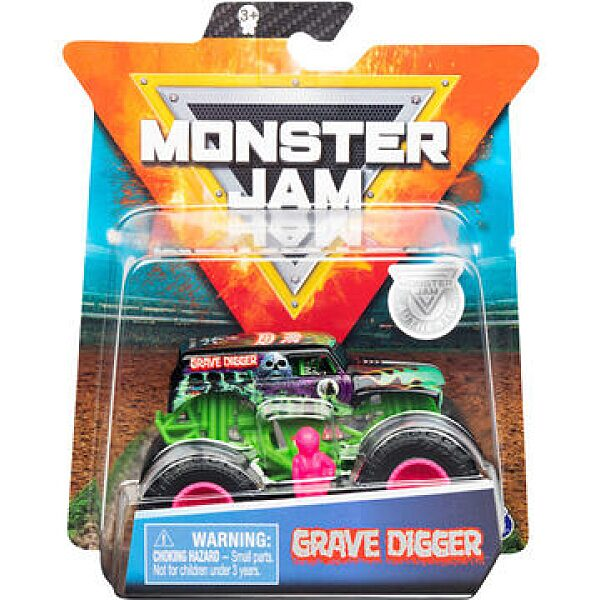 Monster Jam: Grave Digger kisautó figurával - kétféle - 1. kép
