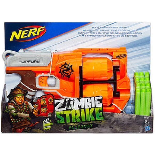 NERF N-Strike Elite Zombie Strike: Flipfury szivacslövő fegyver - 1. kép