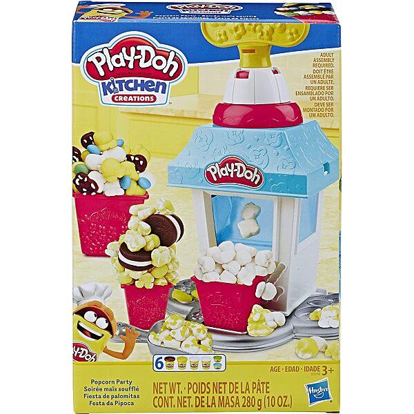 Play-Doh: pattogatott kukorica készítő gyurmaszett doboza