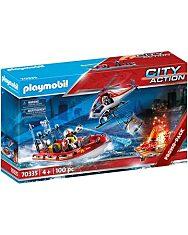 Playmobil: Tűzoltók helikopterrel és hajóval 70335 - 1. kép