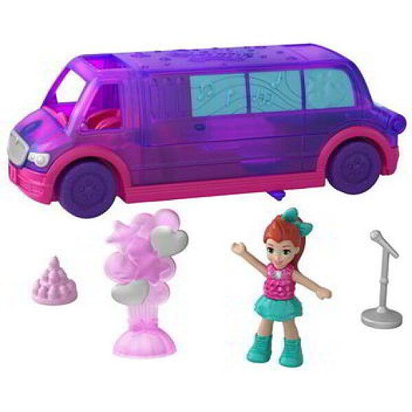 Polly Pocket:Mini parti limuzin kiegészítőkkel és mini babával - 1. kép