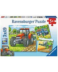 Ravensburger: mezőgazdasági gépek 3x49 darabos puzzle - 1. kép