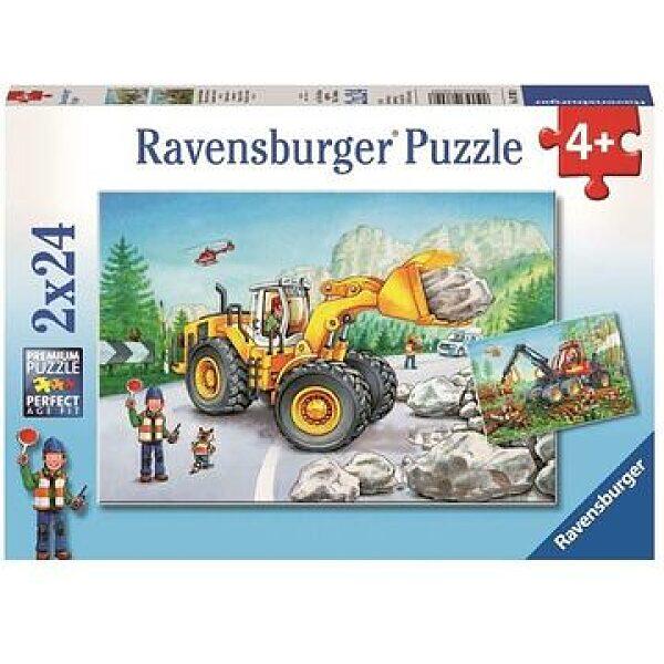 Ravensburger: Munkagépek 2 x 24 darabos puzzle - 1. kép