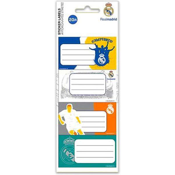 Real Madrid: 20 darabos füzetcímke - 1. kép
