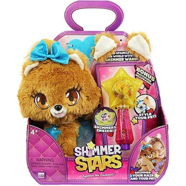 Shimmer Stars: Bubble kutyus plüssfigura varázspálcával - 1. kép