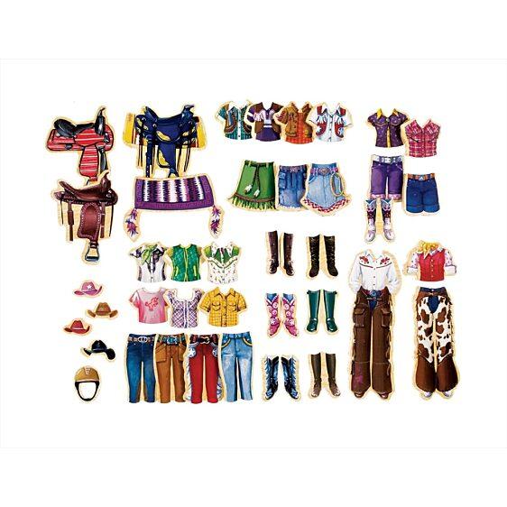 fa öltöztető szett - Becca és Szépség lovarda szett - 1. kép
