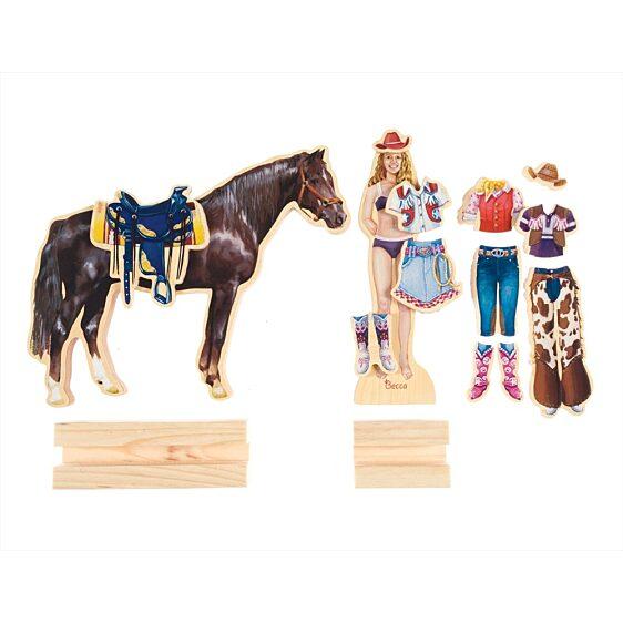 fa öltöztető szett - Becca és Szépség lovarda szett - 2. kép