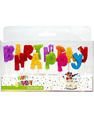 """Trendhaus """"Happy Birthday"""" csillogó betűk szülinapi gyertya szett - 1. kép"""