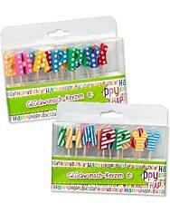 """Trendhaus """"Happy Birthday"""" mintás betűk szülinapi gyertya szett"""