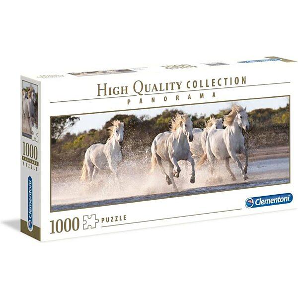 Vágtázó lovak 1000 db-os panoráma puzzle - Clementoni - 2. kép