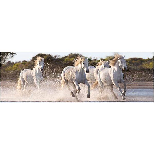 Vágtázó lovak 1000 db-os panoráma puzzle - Clementoni - 1. kép