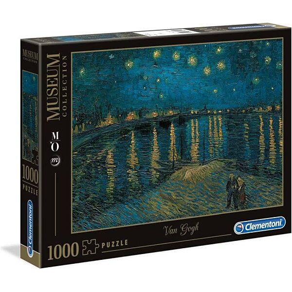 Van Gogh: Csillagos éj a Rhone fölött 1000 db-os puzzle - Clementoni - 2. kép