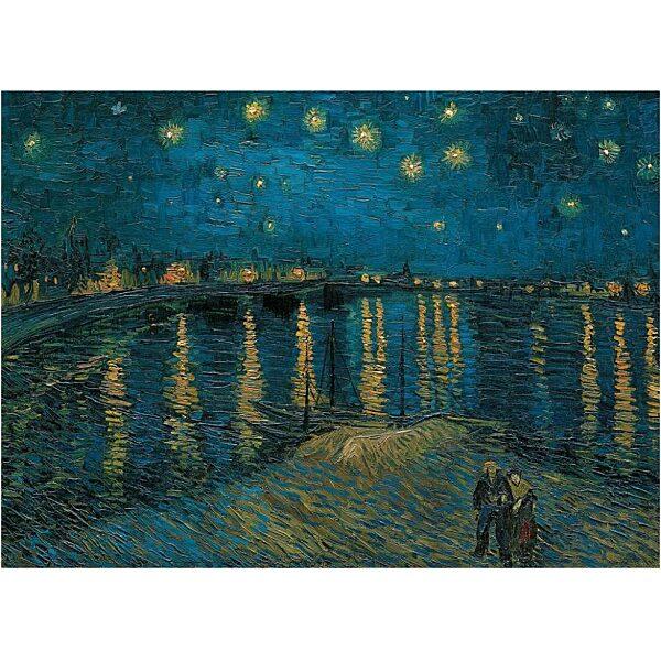 Van Gogh: Csillagos éj a Rhone fölött 1000 db-os puzzle - Clementoni - 1. kép
