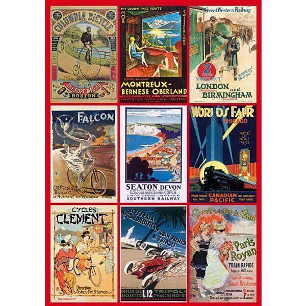 Vintage poszterek 1000 db-os puzzle - 1. kép