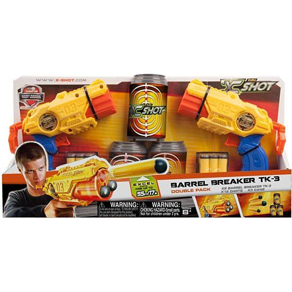 X-Shot Barrel Breaker combo szivacslövő játékpisztoly szett - 1. kép