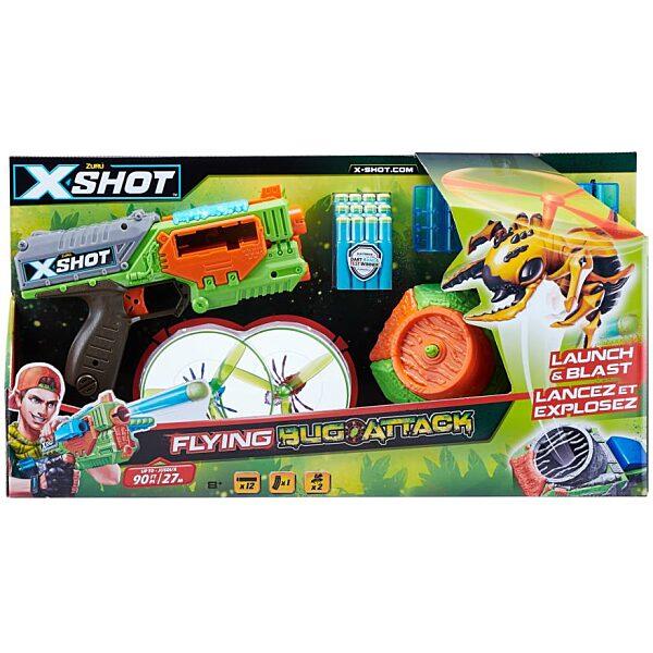 X-Shot Bogártámadás Swarm Seeker szivacslövő játékfegyver - 1. kép